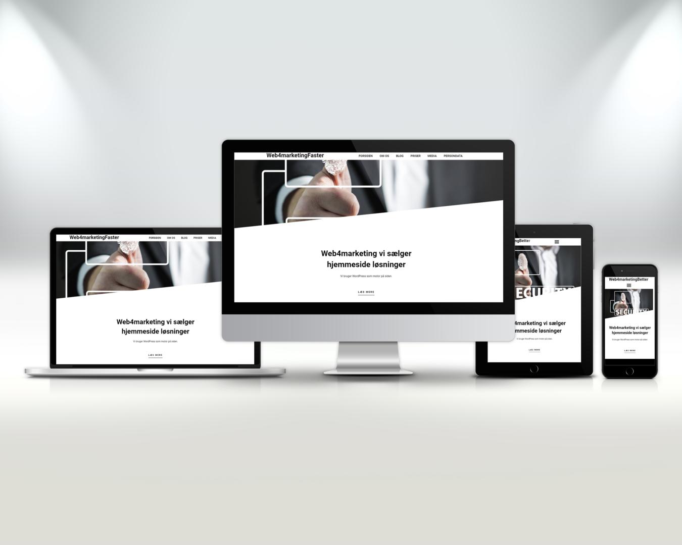 hjemmeside løsninger fra web4marketing