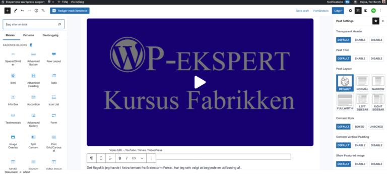 Pagebuilderen  WordPress