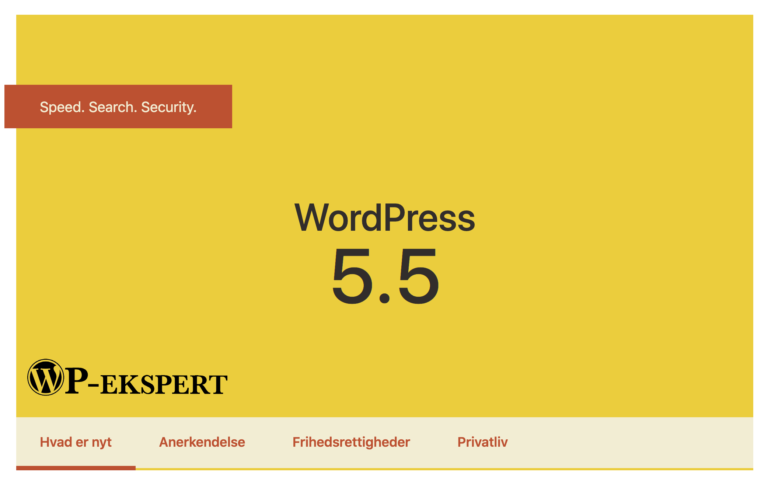 WordPress update til 5.5